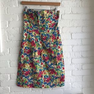 Anthropologie Girls From Savoy floral dress 6